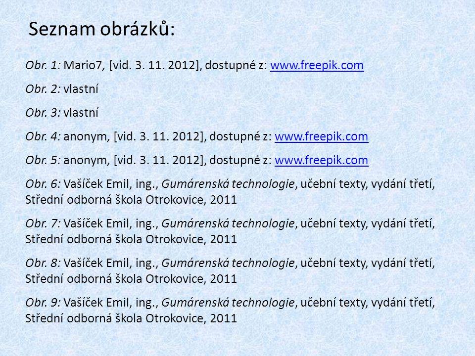 Seznam obrázků: Obr. 1: Mario7, [vid. 3. 11. 2012], dostupné z: www.freepik.com. Obr. 2: vlastní. Obr. 3: vlastní.